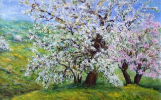 Raskoš proljeća, akril na platnu, 60×50, 2014.
