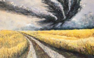 Oluja, akril na platnu, 60×70, 2017