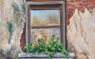 Stari prozor,  akril na platnu,  50×40,  2019