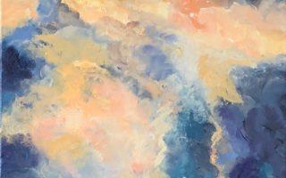 Oblaci,  akril na platnu,  40×60,  2019