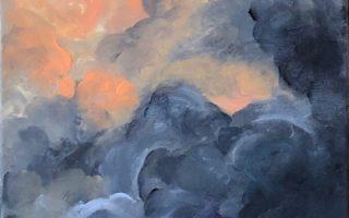 Olujni oblaci,  akril na platnu,  30×50,  2019