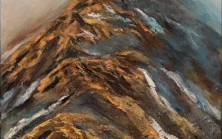 Maglovite planine,  akril na platnu,  60×40,  2019