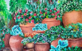 Vrt,  akril na platnu,  40×50,  2019